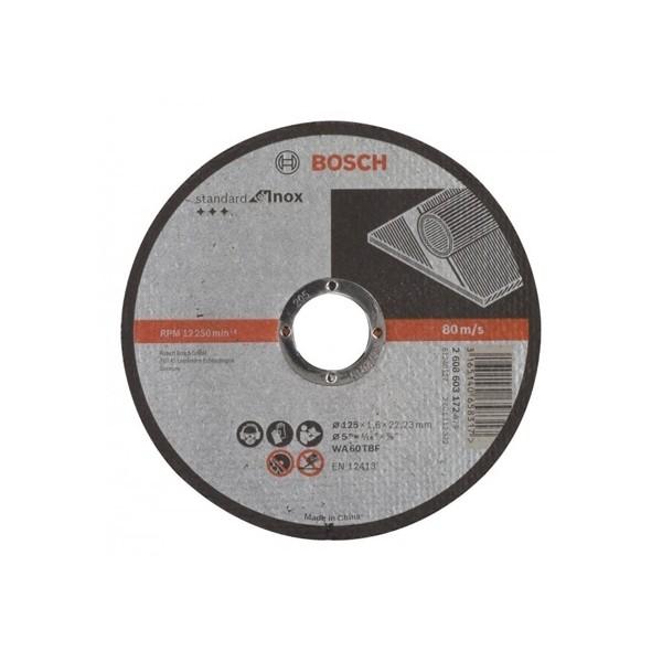 Disque à tronçonner à moyeu plat Standard for Inox BOSCH WA 60 T BF, 125 mm maroc 1