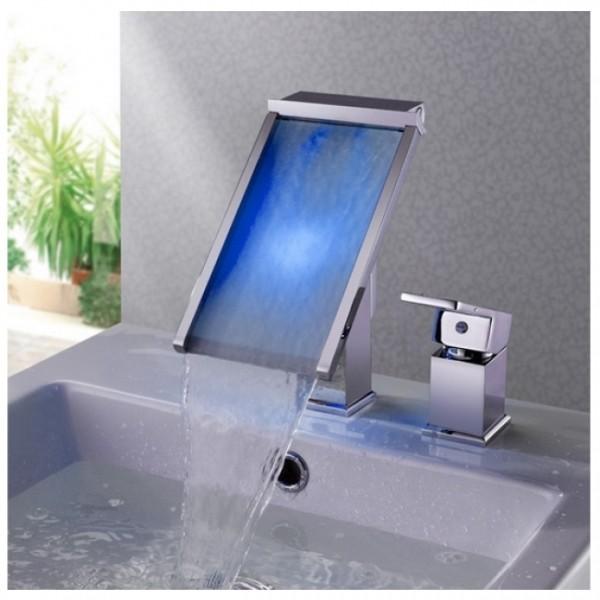 Mitigeur lavabo cascade LED 1470D maroc 6
