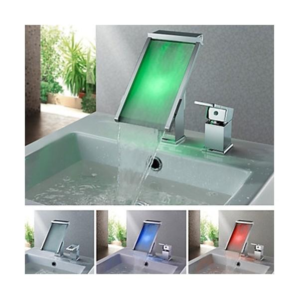 Mitigeur lavabo cascade LED 1470D maroc 7